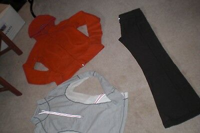 Lot of Lululemon Luon Groove Pants, Hoodie and Rare Half Zip Pullover sz 8