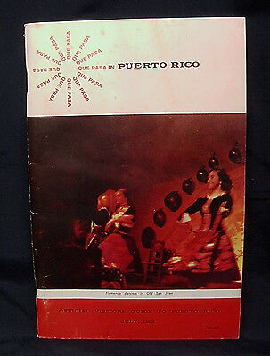 RARE Vintage JULY 1968 QUE PASA Puerto Rico OFFICIAL VISITORS GUIDE - FREE Shpg!