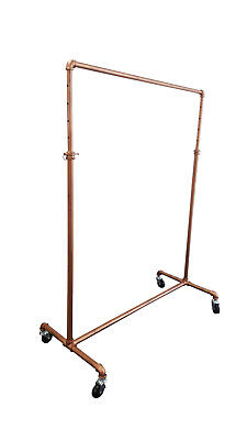 Retro / Industrial Style Antique Bronze Clothing Rack With Wheels