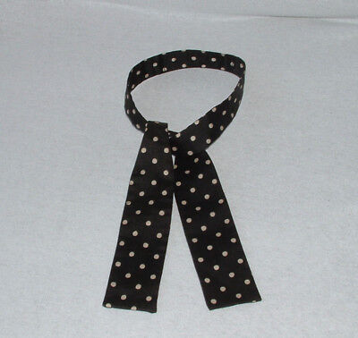 Vintage Bow Tie Black White Polka Dot 1950's