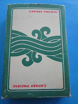 CATHAY PACIFIC AIRLINES PLAYING CARDS COMPLETE CARDS open box VTG