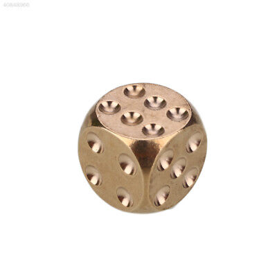 A6A3 Brass Dice Solid Heavy Metal Alloy Childen Shake KTV Party Bar Supplies