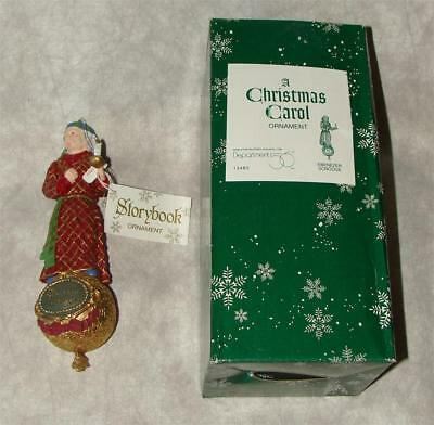 Dept 56 Ornament A Christmas Carol Ebenezer Scrooge 13483 Includes Tags & Box