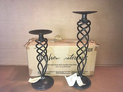 home interiors decorative pillar candle holders glass seashells