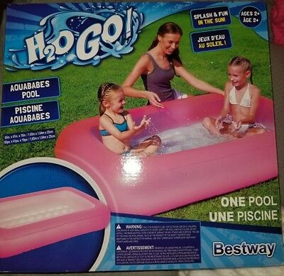 H2OGO! Aquababes Inflatable Play Pool - Pink