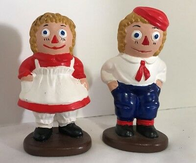 Vintage 1974 Ceramic Ragedy Ann & Andy figurines