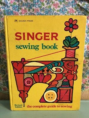 Vintage Singer Sewing Book 2nd Edition 1972 1970s Housewife Learn To Sew Fashion