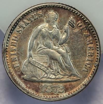 1872 Seated Liberty Silver Half Dime - Sharp Details *DoubleJCoins* 170-05