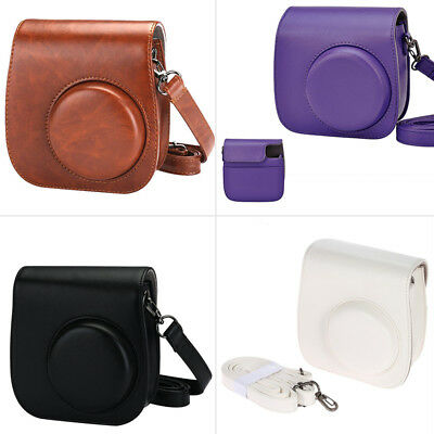 For Fujifilm Instax Mini 8 9 Camera Bags Faux Leather Shoulder Strap Case Pouch