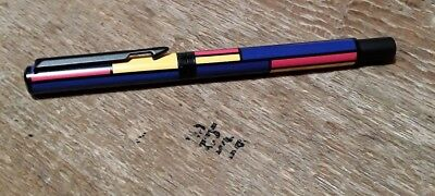 Vintage 1994 GEOMETRIC with Black Sports Clip PARKER VECTOR ROLLERBALL Pen USA