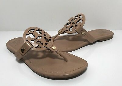 8698298aadc75 ... Tory Burch Miller Make Up Leather Thong Sandals Women s Size 6.5 M half  off 22113 ...
