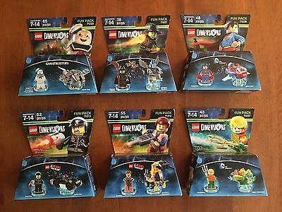 NEW Lot 5 Fun Pack LEGO Dimensions Ghostbusters Wizard of Oz Lego Movie Aquaman
