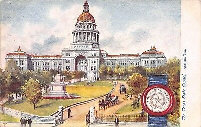 B8337 Texas State Capitol & Seal Tuck Oilette State Capitols USA Series.# 2454