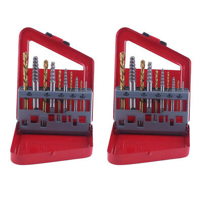 20x Easy Out Screw Extractor Set Matched Left Hand Drill Bits Broken Bolt