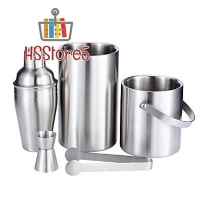 Fortune Candy Stainless Steel Bar Set, 5 Pieces Home Bar Tool Set with 52.8oz Ch
