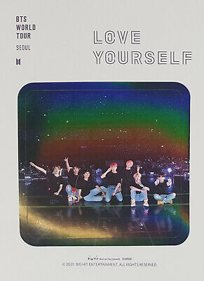 BTS WORLD TOUR LOVE YOURSELF IN SEOUL DVD OFFICIAL STICKER SET ONLY(1 set/4 ea)