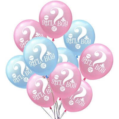 10pcs Baby Gender Reveal Boy Or Girl Latex Balloon Baby Shower Party