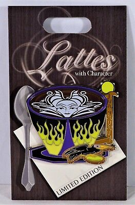 Disney 2018 Lattes Series Villain Maleficent July Pin Of Month LE 3000 NEW CUTE