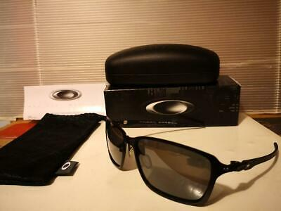 ee40e943a06 NEW Oakley Tincan Carbon Polarized Satin Black Black Iridium Polarized  OO6017-02