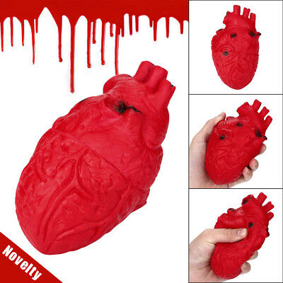 Novelty Silicone Stress Ball Scary Organ Heart Squeeze Toy Stress Reliever Toy