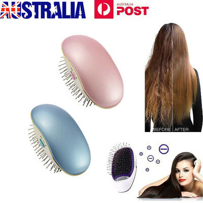 Portable Electric Ionic Hairbrush Takeout Mini Hair Brush Comb Massage Small AU