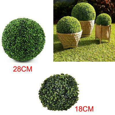 Artificial Boxwood Buxus Topiary Balls Garden Trees Decorative Potted Plant Ball
