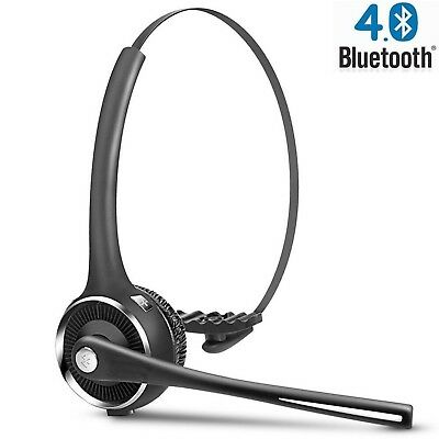 DIGMALL Trucker Cell Phone Bluetooth Headset with HD Mic & Music Streamin... New