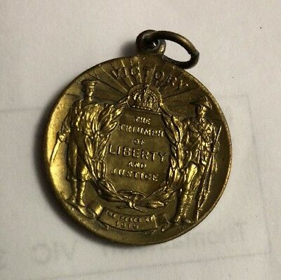 1919 AUSTRALIA END OF WWI - PEACE CELEBRATION SCHOOL MEDAL Coin