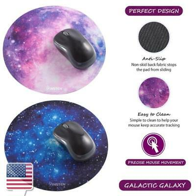 Anti-Slip Round Galaxy Design Mouse Pad For Computer Gaming, 2 Color