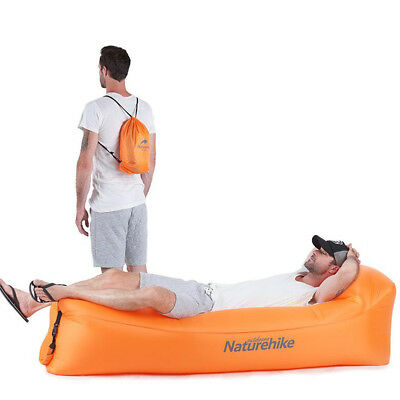 Inflatable Lounge Hammock Air Sofa Couch Chair Air Bed for Pool Travel Beach Sea