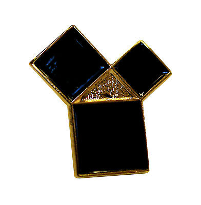 Pythagoras Masonic Lapel Pin LP 75