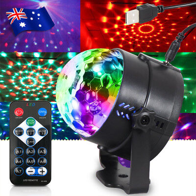 RGB DJ Disco Light Party Magic Ball LED Strobe Effect KTV Stage Lighting+Remote