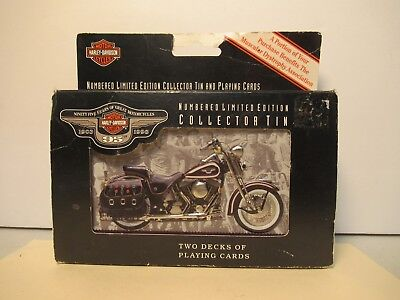 Playing Cards Harley Davidson 95th Anniversary 2 Factory Sealed Free USA Shippin