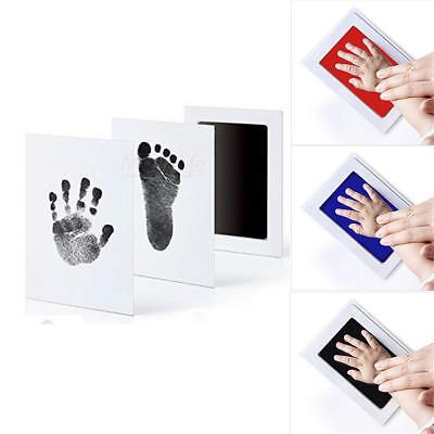 Inkless Wipe Baby Kit Hand Foot Print Keepsake Newborn Handprint 3 Colors