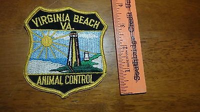 Vintage Virginia Beach Animal Control Police  Obsolete Shoulder Patch Bx10 #40