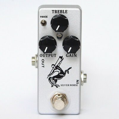 NEW Silver Horse  Two Mode Guitar Effect Pedal Overdrive/Boost