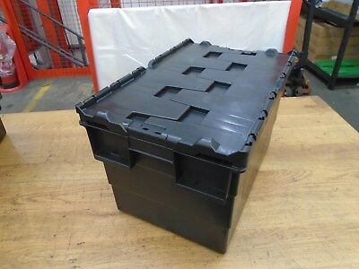 Brand New -Attached Lid -Commercial-Heavy Duty-Removal-Storage Box 65 Litres
