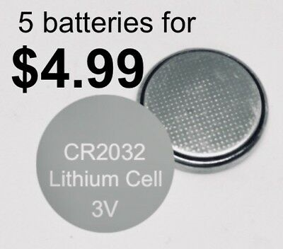 5x CR2032 3V LITHIUM CELL BATTERY 5004LC 2032 BR2032 Long Life Button BATTERIES