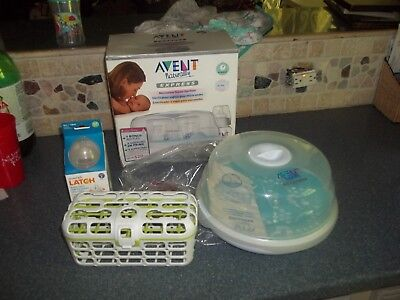 Philips AVENT Naturally Express Microwave Steam Bottle Sterilizer/Munchkin latch