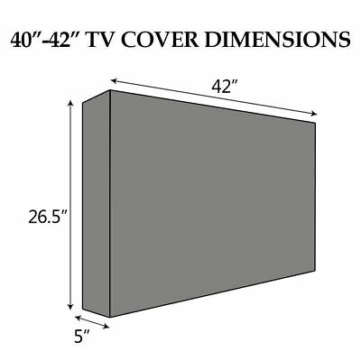 """Outdoor Weatherproof TV Cover Television Protector for 22""""-65"""" LCD LED Plasma V5"""
