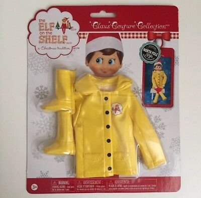 Elf On A Shelf Caroling In The Raincoat Claus Couture Collection New Rare Outfit