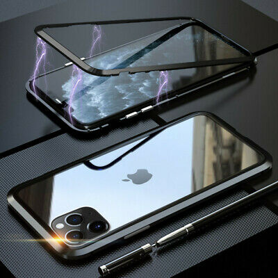 MAGNETIC CASE for iphone 7 8 PLUS X XS XR XS MAX samsung s8 s9 clear black cover