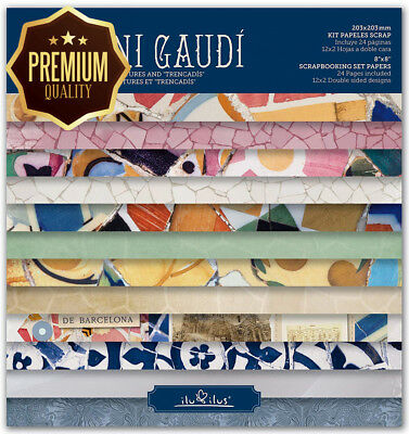 Scrapbook - Gaudí- Pad 8 inches -203mm//Kit papers for scrapbooking