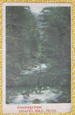 TN Tennessee Chapel Hill ;Greetings Hand Colored Postmark 1920