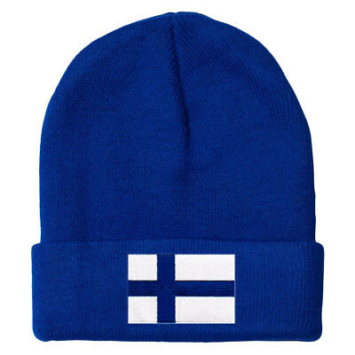 Finland MyCountry Solid Knit Hat (Royal) - IceJerseys