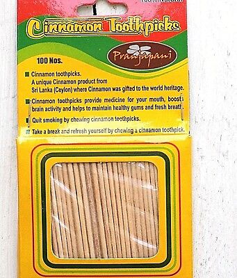 Cinnamon Toothpicks 100pcs100%Natural An Unique product from Sri Lanka/UK seller