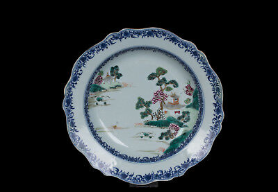 China 18. Jh. Qianlong Teller - A Chinese Famille Rose Porcelain Plate Chinois