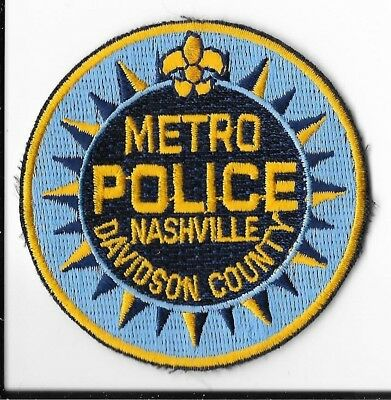 Nashville Police Department/Metro Davidson County, Tennessee Hat Patch