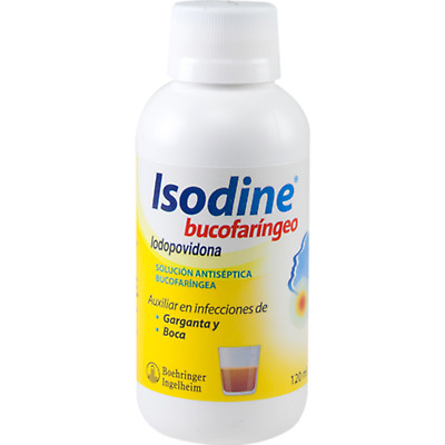 120ML ISODINE Oral Antiseptic Relieves Sore Throat and Infections