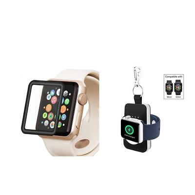 Magnetic Charging Wireless Charger Dock For Apple Watch 1 2 3 + Film 38mm